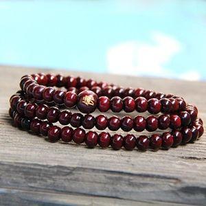 Jewelry - Genuine Sandalwood Bead Mala Prayer Wrap Bracelet